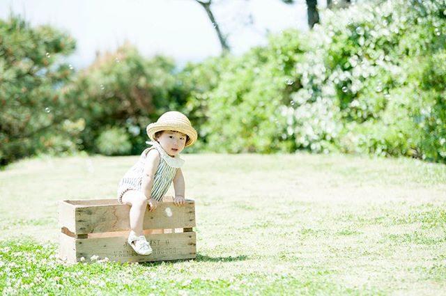 脱走中。今日は こちらの木箱バルーンを取り付けてまたまた 気球に変身毎回 ドキドキ であります。飛んで行きませんように〜ʕ⁎̯͡⁎ʔ༄レンタル衣装 @alku_mi #出張撮影#ロケーションフォト#葉山#湘南#kidspgotography#レンタル衣装 #子供写真#コドモノ#写真好きな人と繋がりたい #写真撮ってる人と繋がりたい #木箱#1歳#お誕生日記念#birthdayphoto (Instagram)
