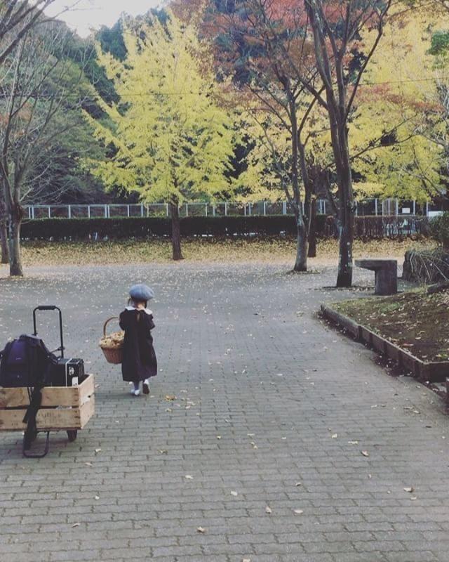 晴れの一日。午前は農園 午後は公園。これから息子と駅伝大会のコース確認と試走で城ヶ島行けば本日の任務 完了。。#1区走るそうです#頑張れ#出張撮影#道しるべ#葉山#銀杏並木#マタニティフォト #子ども写真#駅伝大会 (Instagram)