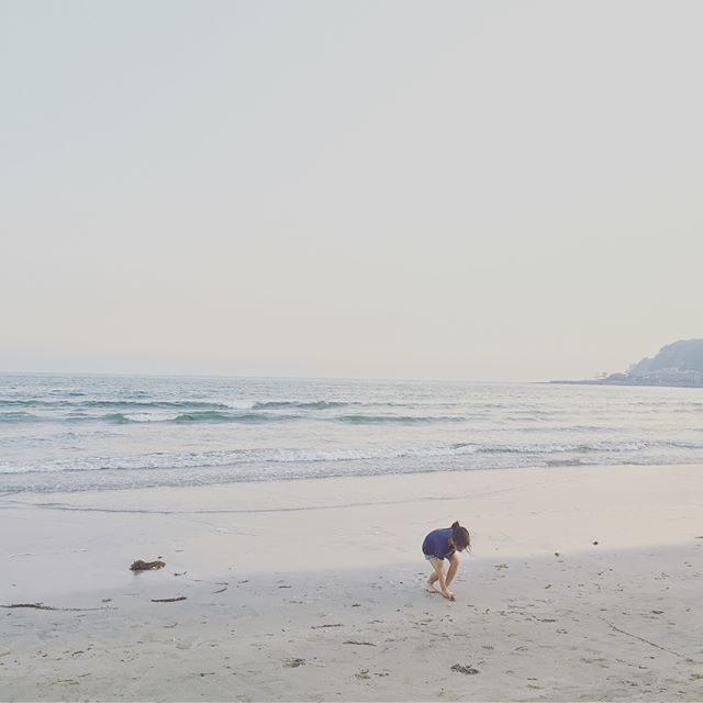 フラの田んぼの田植えしてお友達と 七里の海で遊んでお掃除手伝って締めの 夕暮れ由比ヶ浜の海。#夏だ#海だ#明日は雨だ#由比ヶ浜#田植え#鎌倉#夕暮れ#お手伝い#出張撮影#ボーンフリーワークス (Instagram)
