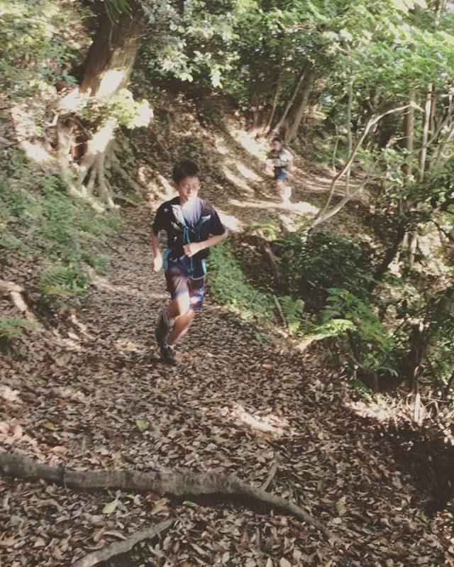 花金だー!ってことで 三ヶ岡山からの仙元山コース⛰母は 仙元山を先回りするもあっという間に追いつかれ20分ほど待たせてしまったけれど楽しそうに 葉っぱ遊びをしてた息子の作品撮り「波乗り舟」かなりシュール。 (Instagram)