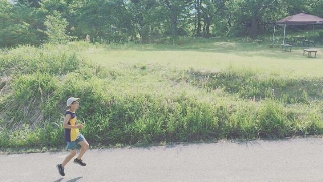 レース前の朝レース後のお昼下がりそして。。帰り道zzz#長野#木島平村#レース後でも#走るんだね (Instagram)